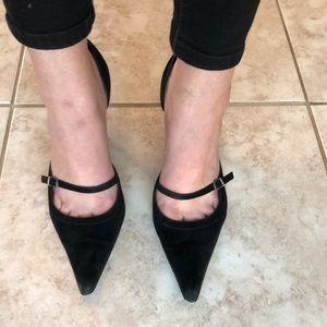 Black suede sexy Kenneth Cole heels